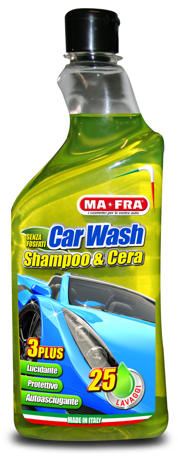 MAFRA CAR WASH SHAMPOO & CERA formato da 750 ml