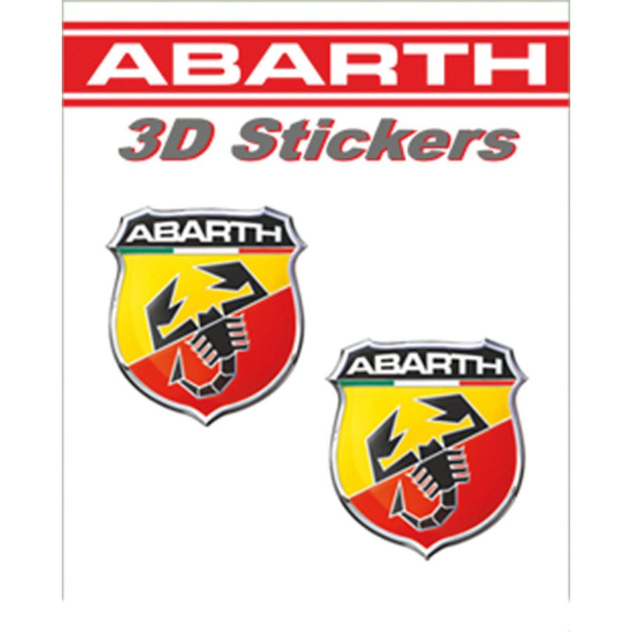 Adesivi tridimensionali Abarth Scudetto Abarth 30x25mm