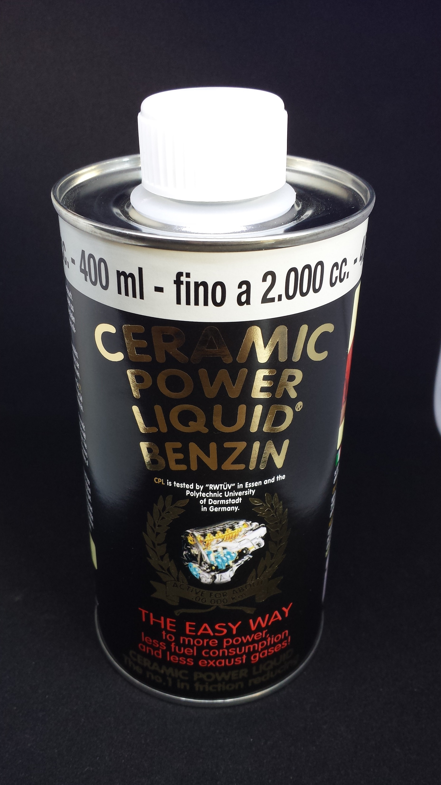 CERAMIC POWER LIQUID BENZIN PER AUTO A BENZINA FINO A 2000cc 400ml