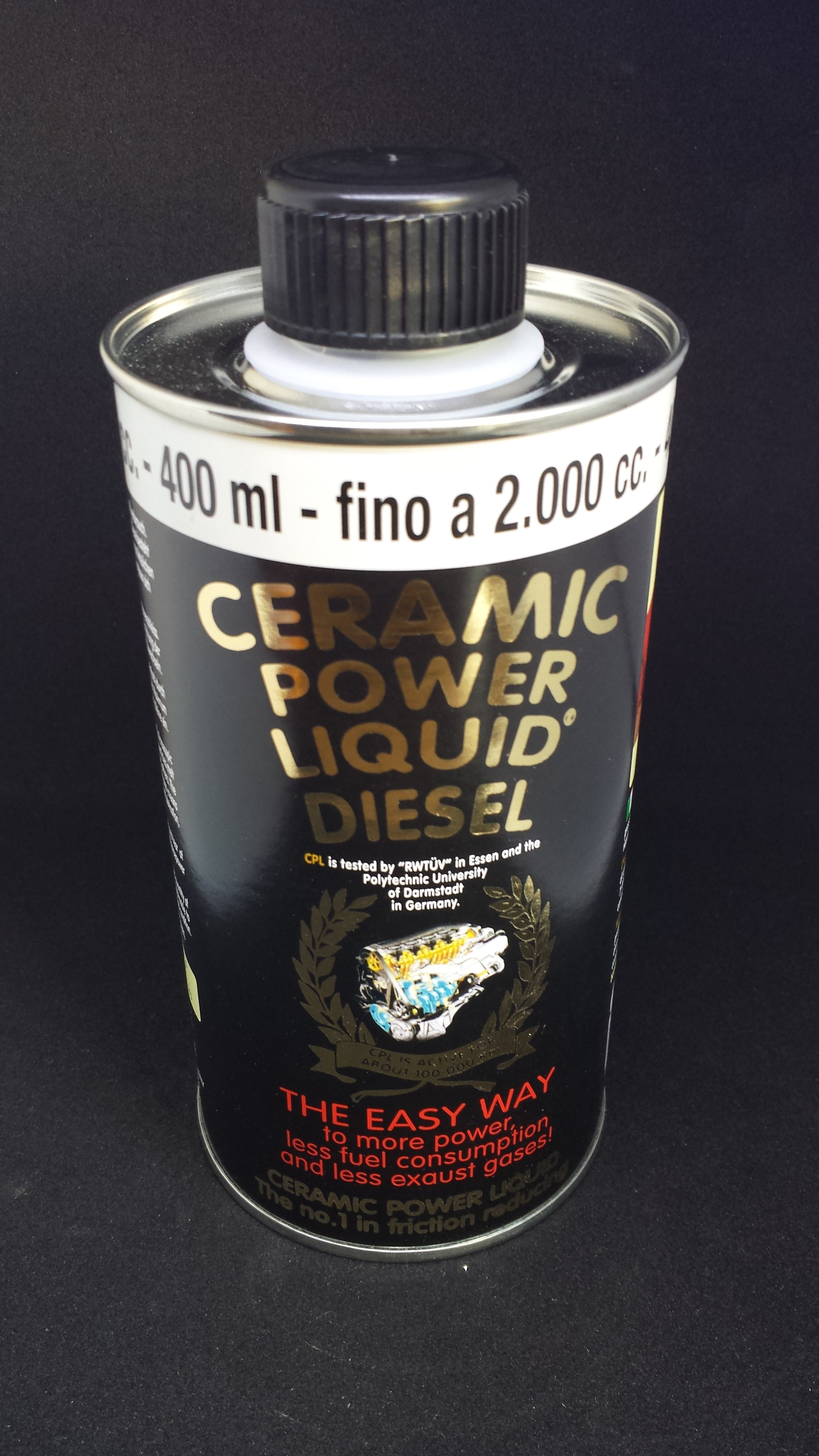 CERAMIC POWER LIQUID DIESEL PER AUTO A GASOLIO FINO A 2000cc 400ml