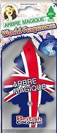 PROFUMATORE AUTO ARBRE MAGIQUE FRAGRANZA WORLD FRAGRANCES BRITISH COLOGNE