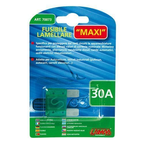 70073  Fusibile lamellare Maxi - 30A 29,2mm
