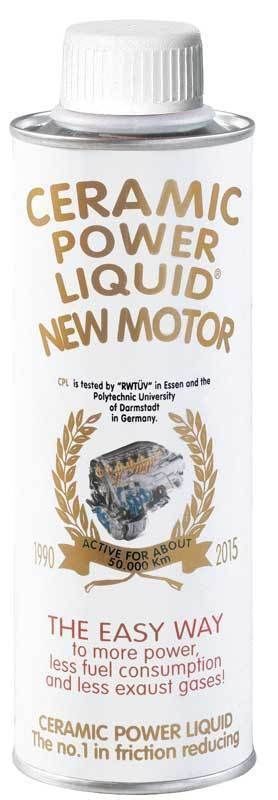 CERAMIC POWER LIQUID NEW MOTOR AUTO A BENZINA O GASOLIO FINO A 2000cc 250ml