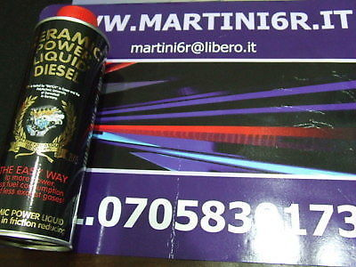 129 CERAMIC POWER LIQUID DIESEL PER AUTO A GASOLIO FINO A 1000cc 200ml