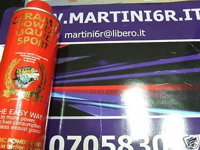CERAMIC POWER LIQUID SPORT PER AUTO BENZINA E DIESEL FINO A 2000cc 300ml