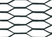 Racing Grill - Hexagon 8x25 mm - 100x33 cm - Nero anodizzato In lega di allumini