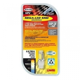 Mega-Led Hi-Power 20 - 12V - (W21/5W) W3x16q - 1 pz - D/Blister - Bianco
