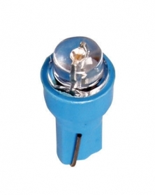 12V Kit Lampade cruscotto 1 Led - (T5) - W2x4,6d - 5 pz - D/Blister - Blu - Lamp