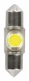 12V Hyper-Led 2 - 1 SMD x 2 chips - (C5W) - 10x36 mm - SV8,5-8 - 1 pz - D/Bliste