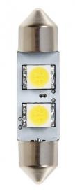 12V Hyper-Led 6 - 2 SMD x 3 chips - (C5W) - 10x36 mm - SV8,5-8 - 1 pz - D/Bliste