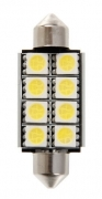 12V Hyper-Led 24 - 8 SMD x 3 chips - 15x41 mm - SV8,5-8 - 1 pz - D/Blister - Bia
