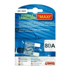 70078  Fusibile lamellare Maxi - 80A 29,2mm