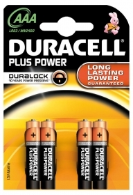 DURACELL PLUS POWER 4 MINISTILO AAA 2400